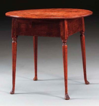 A QUEEN ANNE MAPLE TAVERN TABL