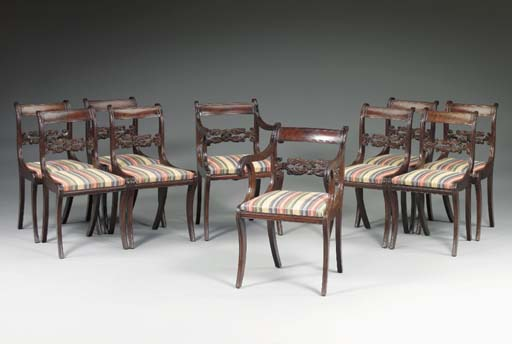 A SET OF TEN CLASSICAL CARVED