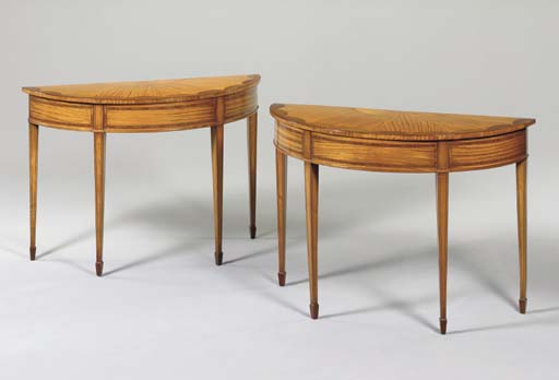A PAIR OF VICTORIAN SATINWOOD,
