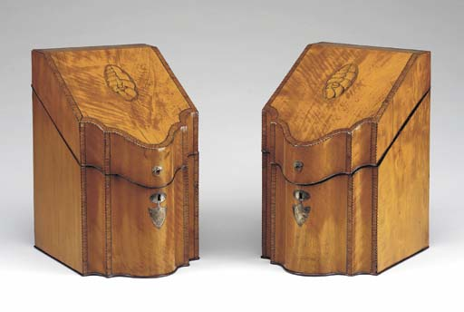 A PAIR OF GEORGE III TULIPWOOD