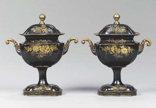 A PAIR OF ANGLO-DUTCH BLACK AN