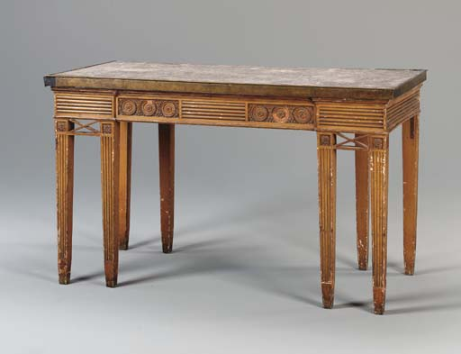 A GEORGE III GRAIN-PAINTED AND