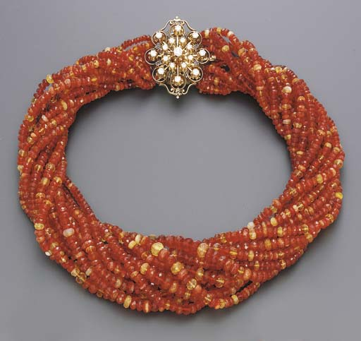 A MULTI-STRAND FIRE OPAL AND D