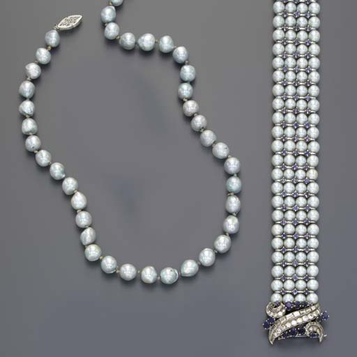 A GROUP OF CULTURED PEARL, SAP