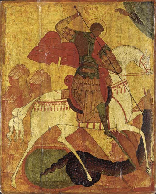 ICON OF ST. GEORGE SLAYING THE