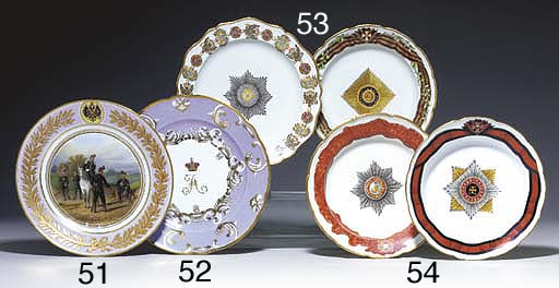 TWO PORCELAIN SOUP PLATES FROM