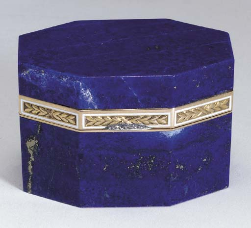 A JEWELLED GOLD LAPIS-LAZULI A