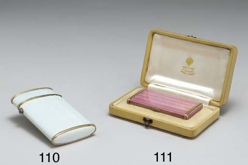 A JEWELLED TWO-COLOR GOLD CIGA