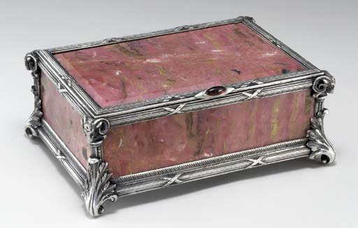 A JEWELLED SILVER-MOUNTED RHOD