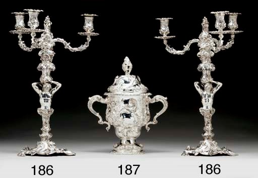 AN EDWARD VII SILVER CUP AND C