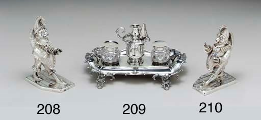 A VICTORIAN SILVER FIGURAL INK