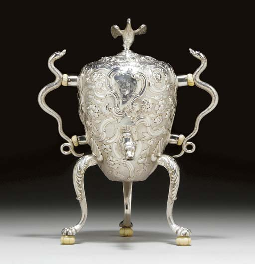 A FINE GEORGE II SILVER COFFEE