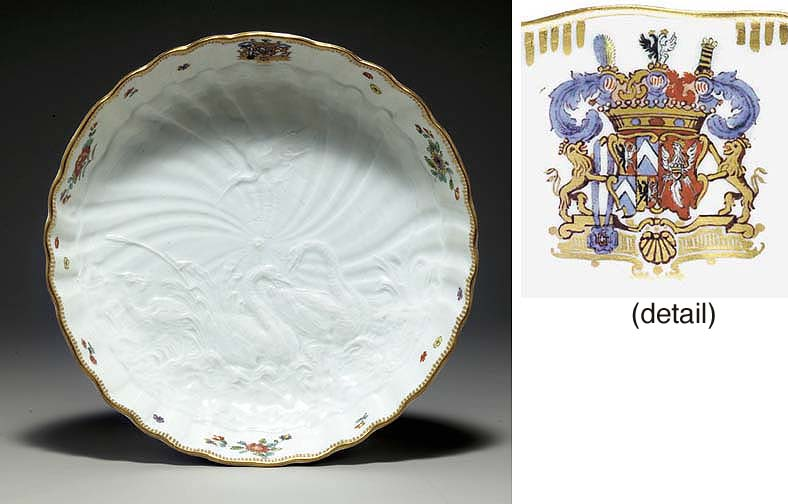 A MEISSEN SHALLOW BOWL FROM TH