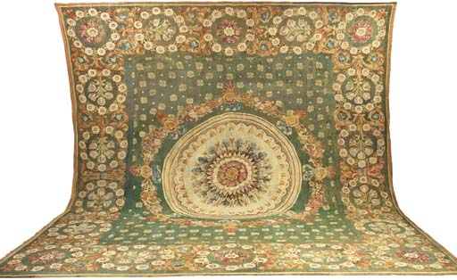 AN EMPIRE AUBUSSON CARPET