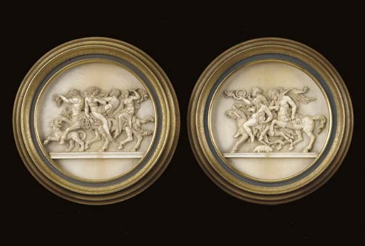 A PAIR OF ITALIAN CARVED IVORY