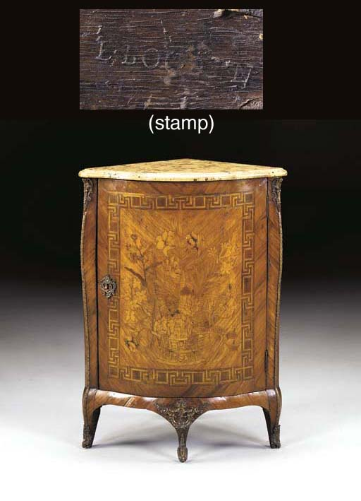 A LOUIS XV LACQUERED-BRASS MOU