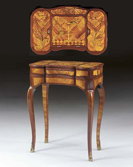 A LOUIS XV STYLE TULIPWOOD, AM