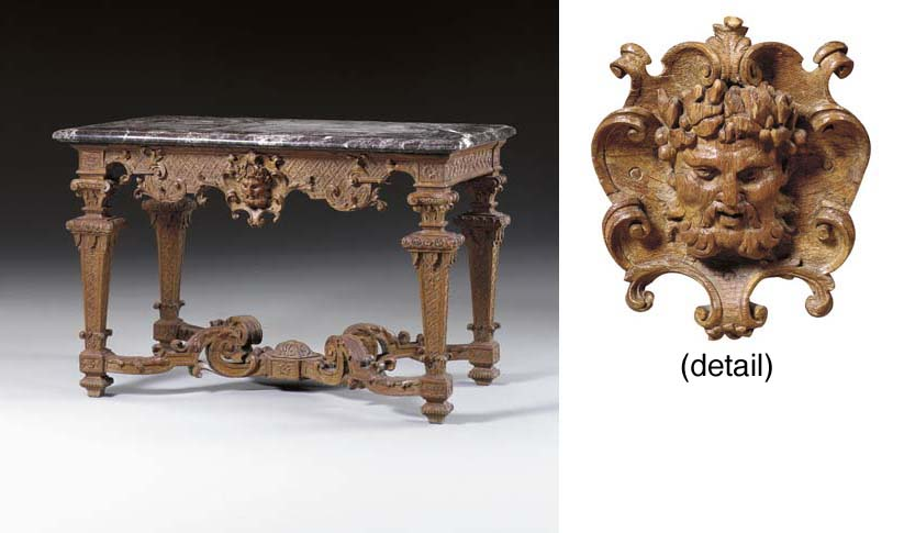 A LOUIS XIV OAK CONSOLE TABLE