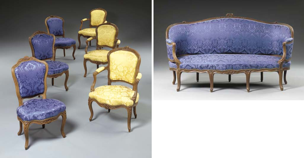 A MATCHED SUITE OF LOUIS XV WA