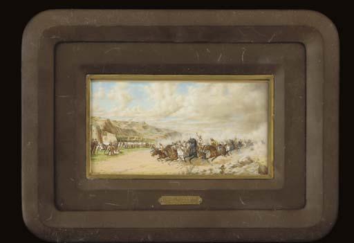 A Spanish miniature painting o