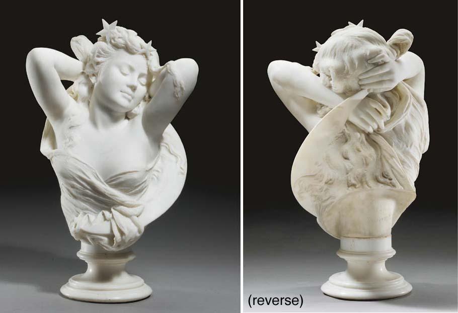 An Italian Carrara marble bust