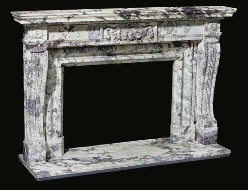 A Louis XVI style carved brech