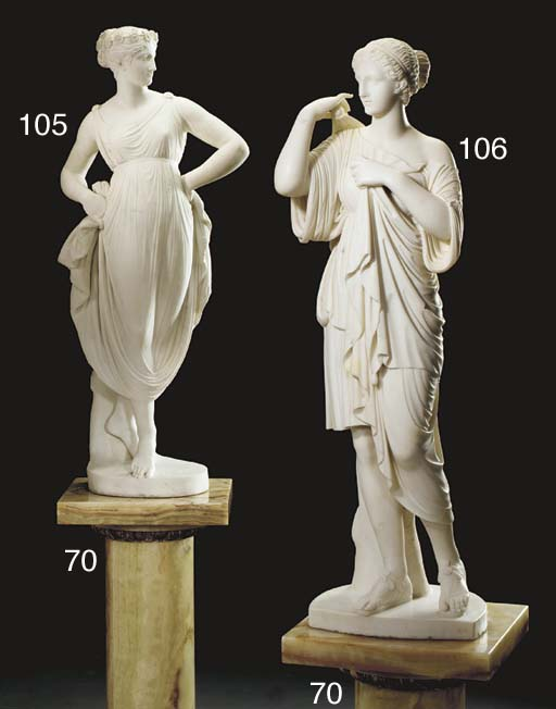 An Italian Carrara marble figu