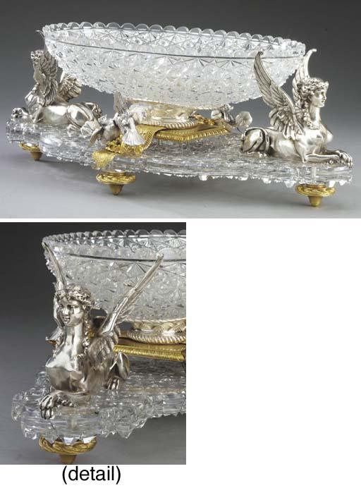A French ormolu, silvered bron