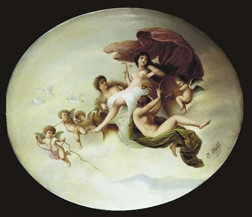 A CÖLLN-MEISSEN OVAL PLAQUE OF
