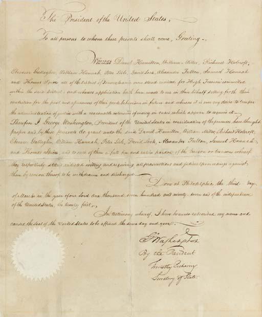 WASHINGTON, George. Document s