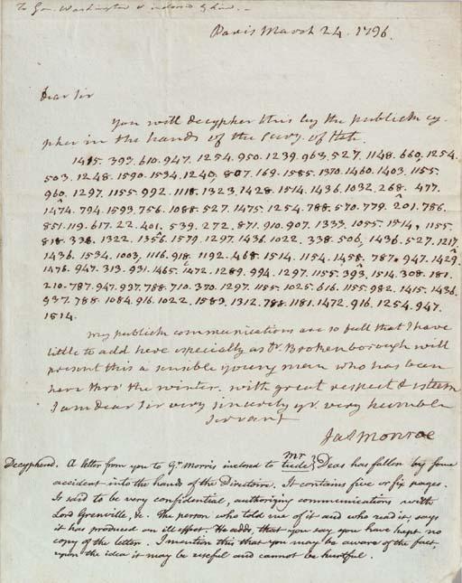 MONROE, James (1758-1831), Pre
