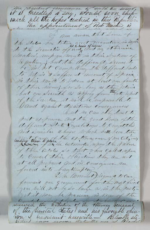 BUCHANAN, James. Manuscript do