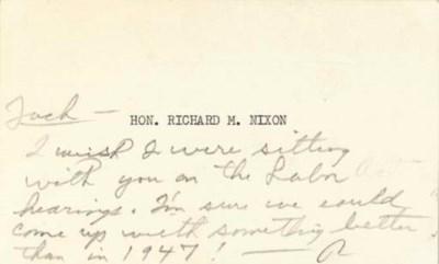 NIXON, Richard M. Autograph no