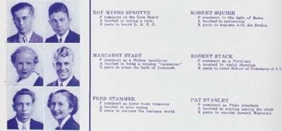 ROBERT STACK YEARBOOK