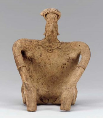 A COLIMA TERRACOTTA FIGURE OF