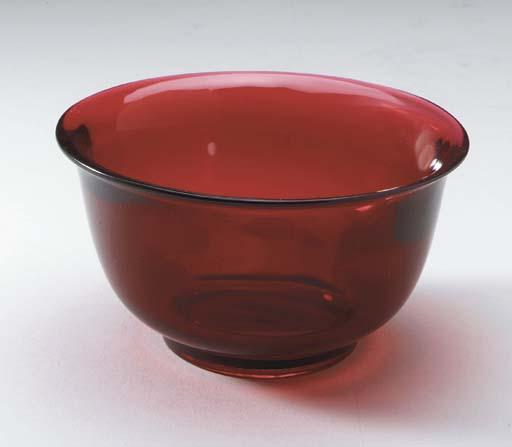 A Transparent Red Glass Bowl,