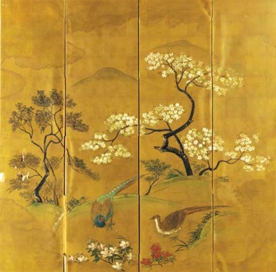 Pheasants and Cherry Trees,