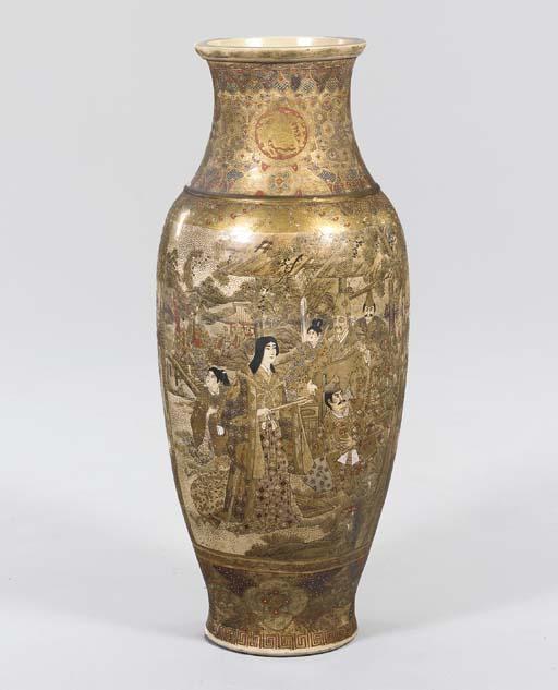 A Large Earthenware Vase,