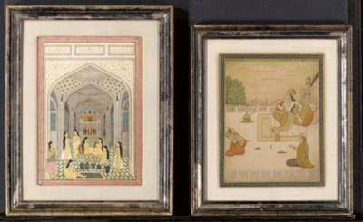 A GROUP OF SIX INDIAN WORKS ON