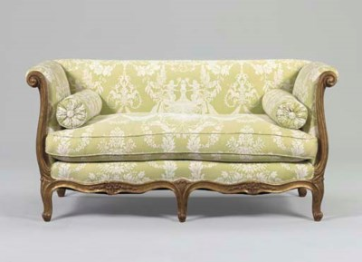 A LOUIS XV STYLE GILTWOOD CANA