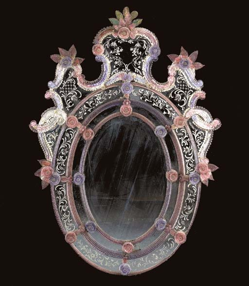 A VENETIAN ETCHED, MOLDED COLO