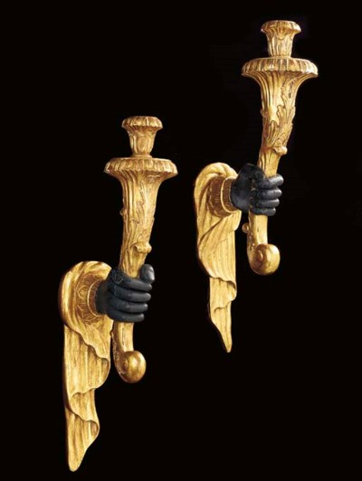 A PAIR OF BAROQUE STYLE GILTWO
