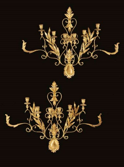 A PAIR OF ITALIAN ROCOCO STYLE