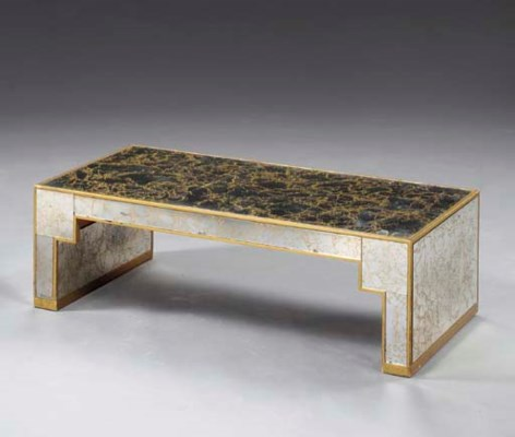 A FRENCH GILTWOOD AND MIRRORED