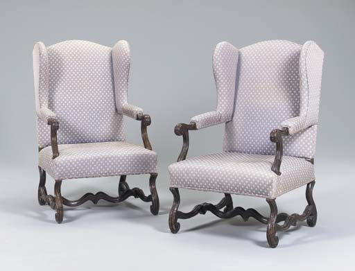 A PAIR OF LATE LOUIS XIV STAIN