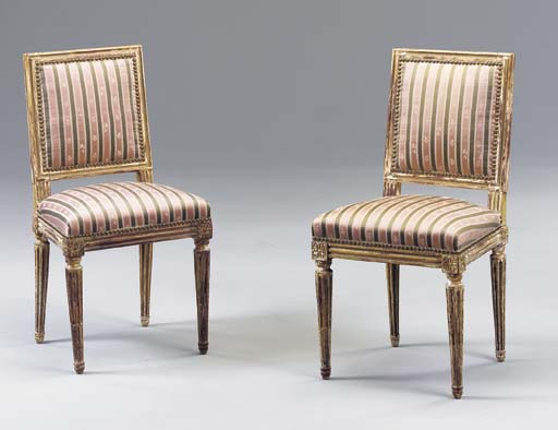 A PAIR OF LOUIS XVI STYLE YELL