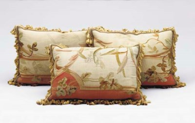 A SET OF THREE AUBUSSON TAPEST