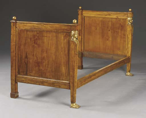 AN EMPIRE STYLE FRUITWOOD AND
