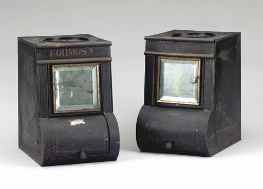 A PAIR OF VICTORIAN BLACK TOLE