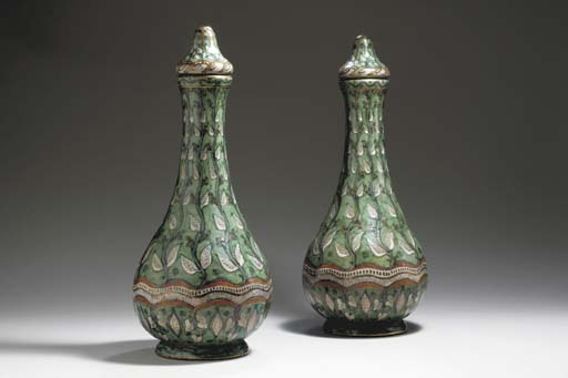 A PAIR OF LARGE EARTHENWARE CO